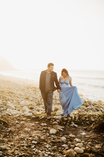 Marielle and Daniel | Rancho Palos Verdes Engagement | Malaga Cove