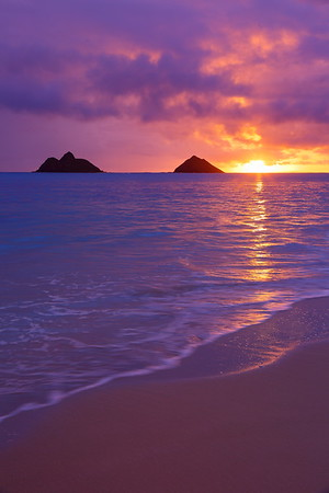 Sunrise from Kailua Beach.  © 2020 Kenneth R. Sheide
