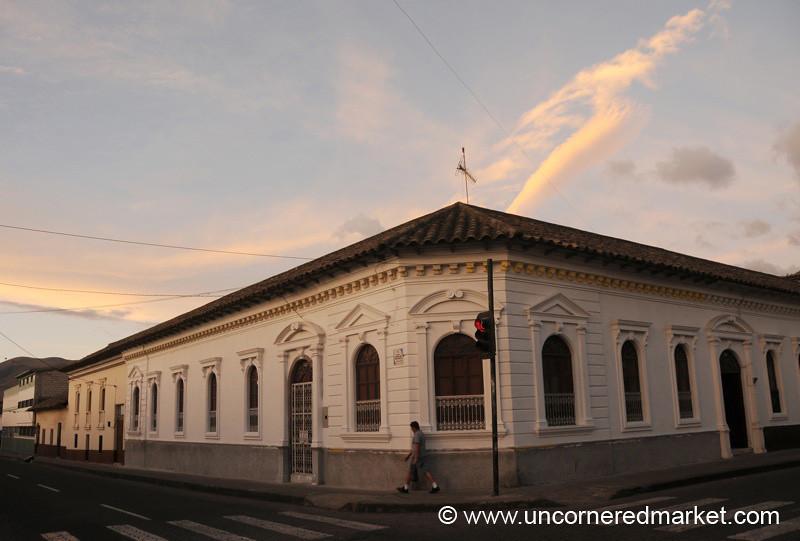 Colonial Style Street Corner - Ibarra, Ecuador
