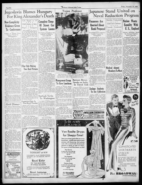 Daily Trojan, Vol. 26, No. 44, November 23, 1934