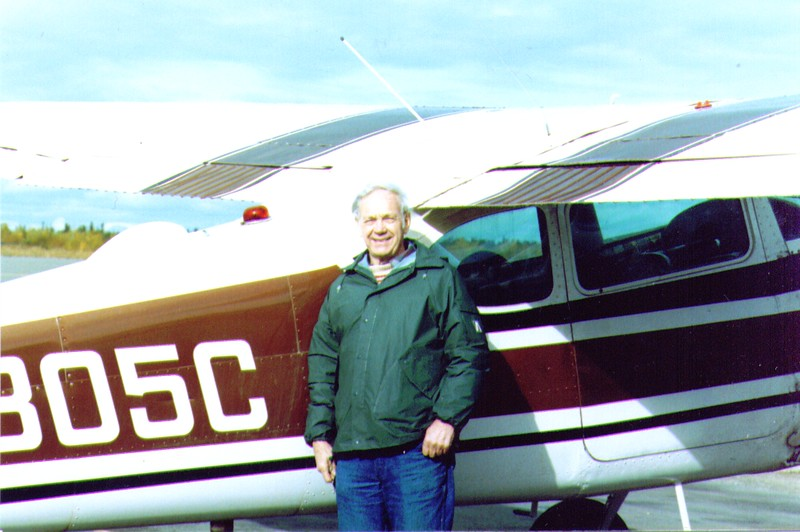 Wayne standing by Dave's Plane .jpg