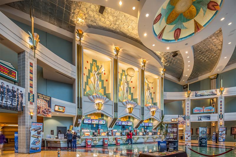 Regal Metropolitan theater lobby, Austin Tx
