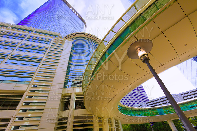 Houston cityscape Bell and Smith St in Texas US