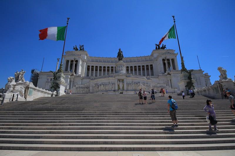 Steps of the Victor Emmanuel Monument.