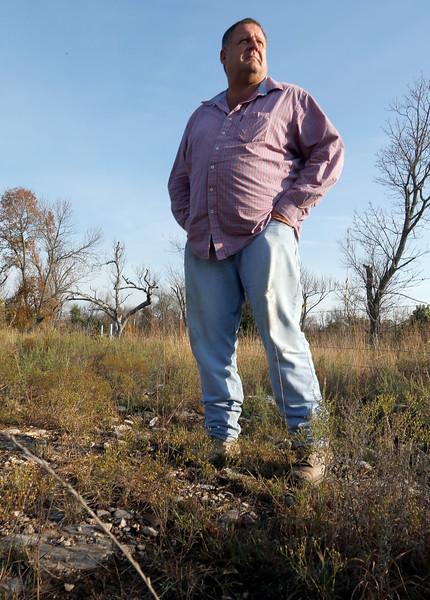 Tim Pinney at the quarry location near Avant.