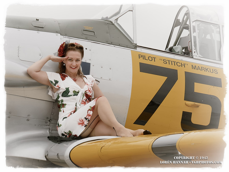"""Ladies from """"Heels for Combat Boots"""" - 8/27/16 Gathering of Warbirds - Waukesha, WI"""