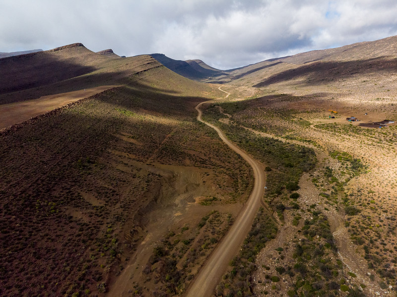 Cederberg dirt road in the wilderness, Western Cape, South Africa