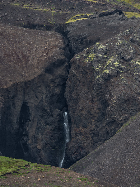 Waterfall In the Crevice  Photography by Wayne Heim