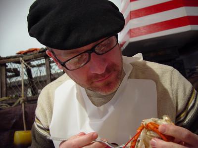 Lestan & Robbie at the Lobster Shack