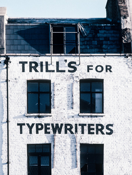 Trill's for Typewriters, London, England, 1991