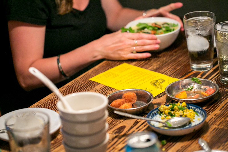 Talat Market is a semi-permanent pop-up that has taken residence at Gato on McLendon for dinner on Friday, Saturday and Sundays.  Menu changes weekly.  (Jenni Girtman/ Atlanta Event Photography)