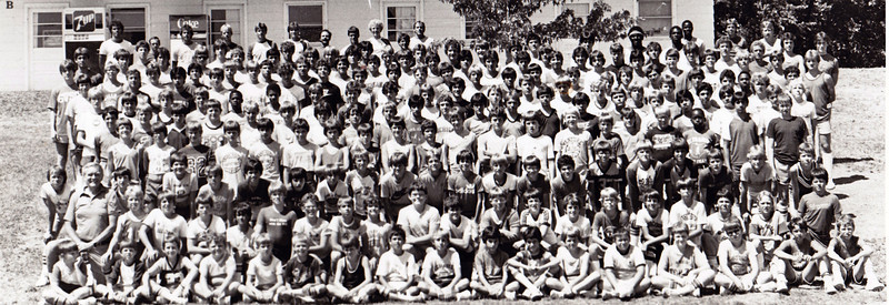 Jeff at Basketball came at Lake James Indiana.  Jeff is far right last person row one. His Coach is Mark German last row far left hand side.