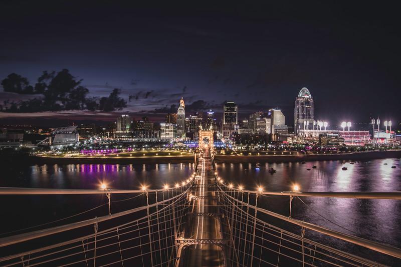 Top of the Roebling Suspension Bridge 2016