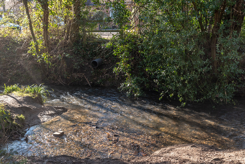 The Stream that crosses Woodland Road