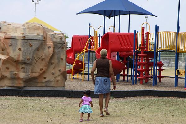 11-04-25 Aaryanna and Grandma at the park