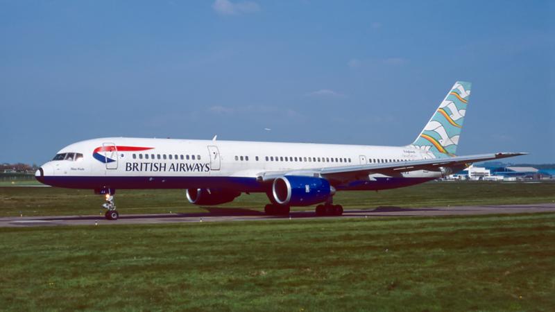 G-BIKA. Boeing 757-236. British Airways. Prestwick. April. 2000.