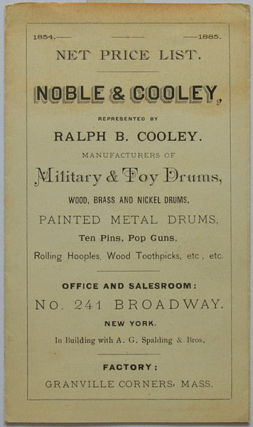 Noble & Cooley Catalog Collection