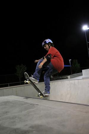 Folsom Skate Park at Night