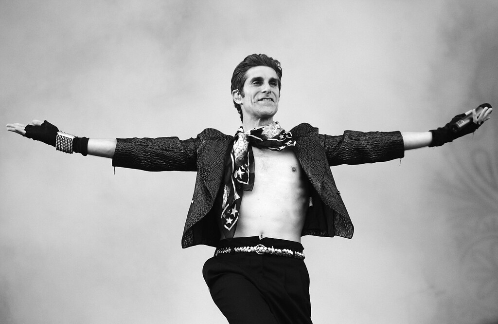 . Perry Farrell of Jane\'s Addiction performs on stage during Soundwave Festival at Eastern Creek Raceway on February 21, 2010 in Sydney, Australia.  (Photo by Mark Metcalfe/Getty Images)