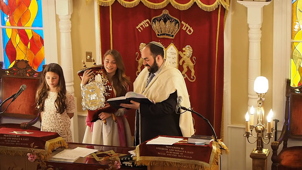 Goldie's Bat Mitzvah The Service, May 7, 2016 (a few video clips)