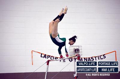 VHS Gymnastics vs La Porte 1-15-13