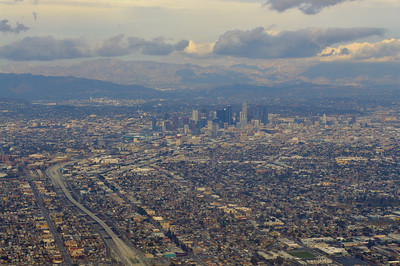 Los Angeles from plane