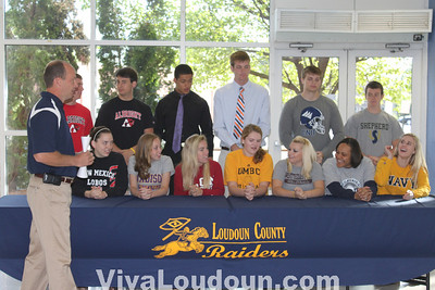College Signing Day at Loudoun County High School