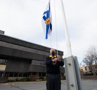 April 19th flag at 1/2 mast