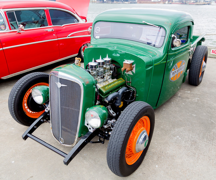 A 1934 Chevy, cut down to make a fine HotRod