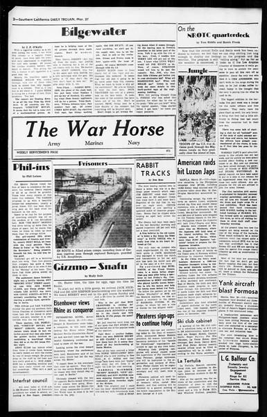 Daily Trojan, Vol. 36, No. 87, March 27, 1945