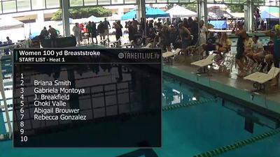 E21 Women's 100 yd Breaststroke