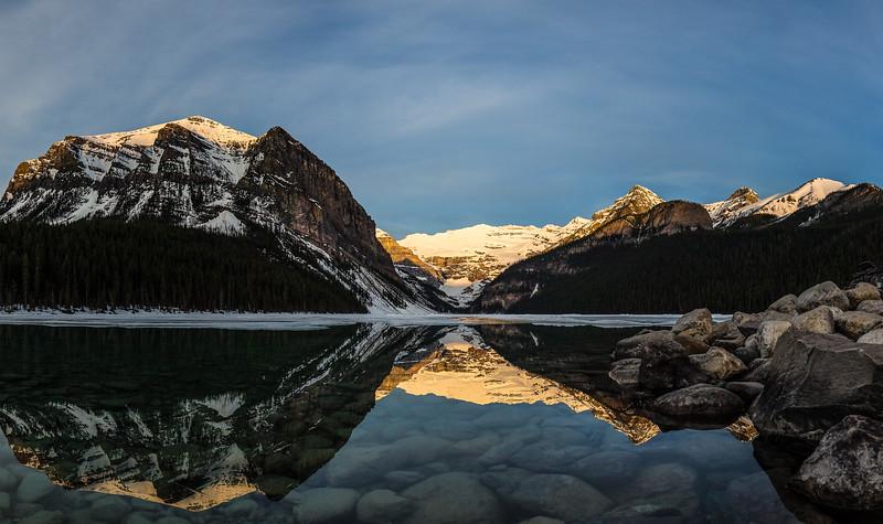 2017-05 Lake Louise Sunrise - 9 shots.jpg