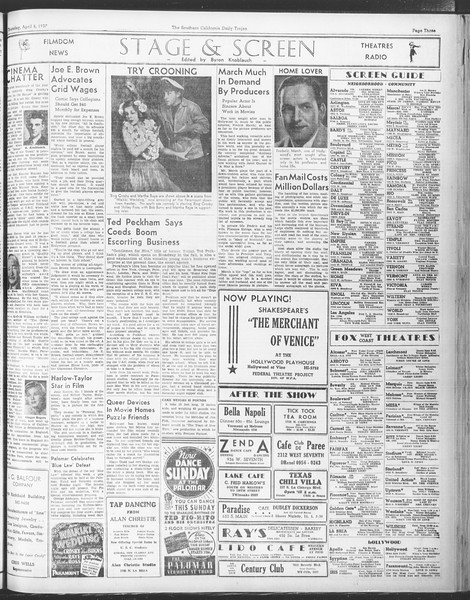 Daily Trojan, Vol. 28, No. 111, April 08, 1937