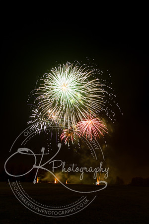 Fireworks at Mowmacre Hill
