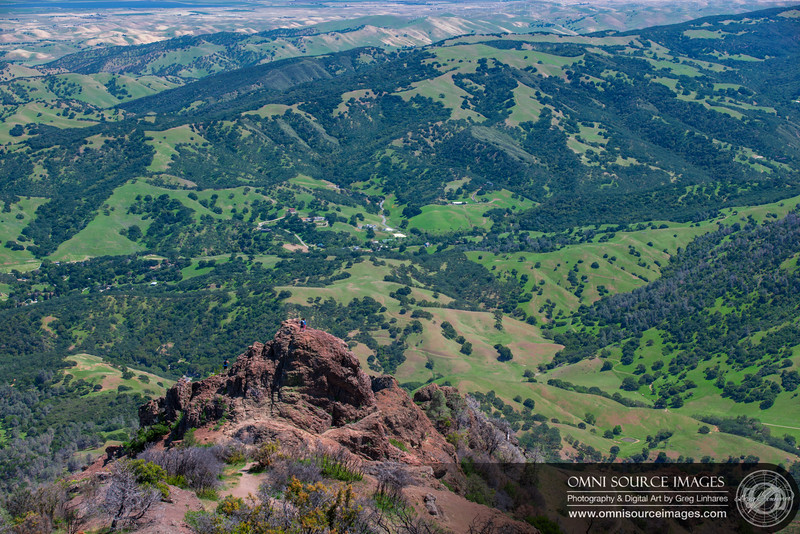 Mt Diablo Summit View Looking South-East Over Morgan Territory