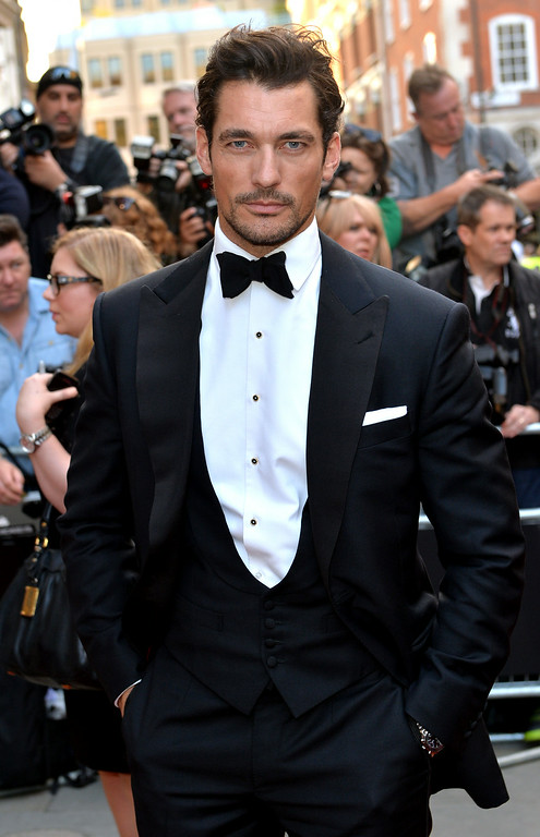 . David Gandy attends the GQ Men of the Year awards at The Royal Opera House on September 2, 2014 in London, England.  (Photo by Anthony Harvey/Getty Images)