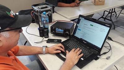 New future radio operators taking exam at XE2BNC club