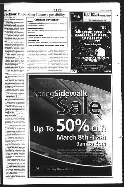Daily Trojan, Vol. 151, No. 37, March 09, 2004