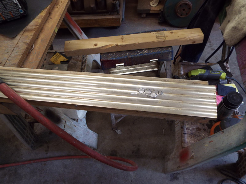 More welds to be ground and faired into the shape of the trim.