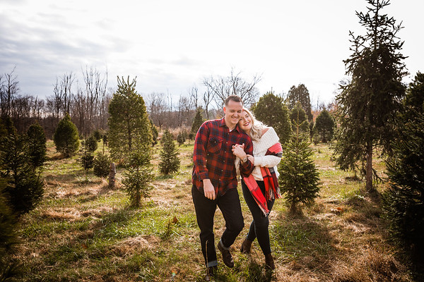 Chelsea + Robert | Watson Christmas Tree Farm | 11.15.2020