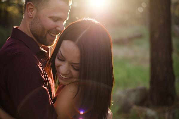 Andrea and Beau   Flagstaff Backyard Wedding