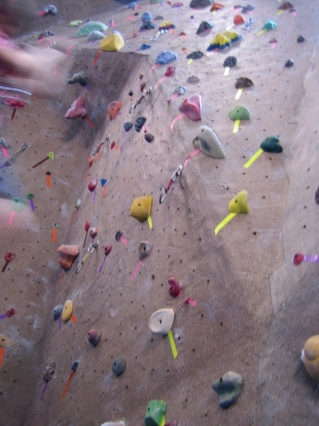at the Climbing Gym