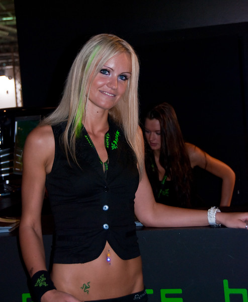 Razer girl at GamesCom