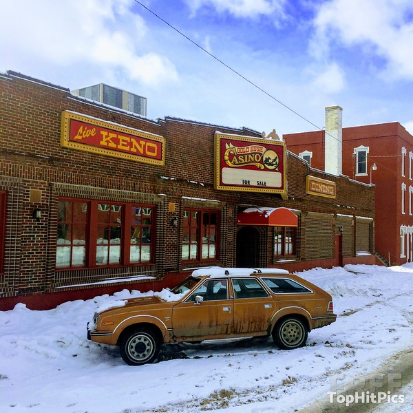 An AMC Vintage Car Outside Gold Rush Casino in Butte, Montana