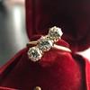 1.38ctw Antique Old European Cut Diamond 3-Stone Ring 20