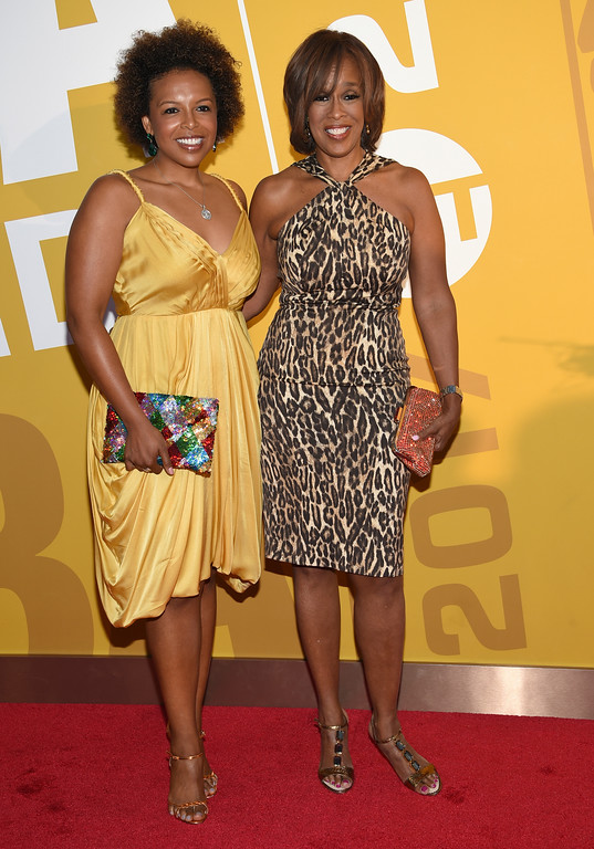 . Gayle King, right, and her daughter Kirby Bumpus arrive at the NBA Awards at Basketball City at Pier 36 on Monday, June 26, 2017, in New York. (Photo by Evan Agostini/Invision/AP)