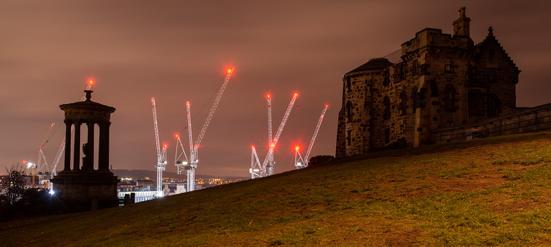 Construction cranes in Edinburgh