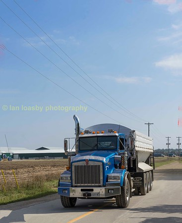 Trucks  in  Ontario  Canada  September  2017