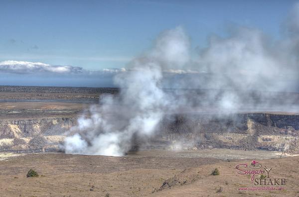 Halema'uma'u Crater, Kīlauea Volcano summit. Day. © 2012 Sugar + Shake