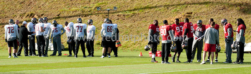 Tampa Bay Buccaneers and the Saints boys at Pennyhill Park, 20 October 2011
